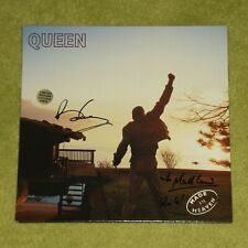 QUEEN Made In Heaven - 1995 UK GATEFOLD LP COVER SIGNED BY BRIAN MAY IN 2009