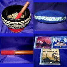 ITB006 Tibetan EXTRA LOUD Large Singing Bowl + Velvet Gong + Large Cushion 23cm