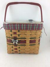 Longaberger 2008 Christmas Large Hostess Wrap it Up Basket Combo w Lid Tie On
