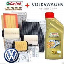 KIT TAGLIANDO 5 LT CASTROL 5W30 +4 FILTRI ORIGINALI VW GOLF 7 (5G) 1.6 2.0 TDI