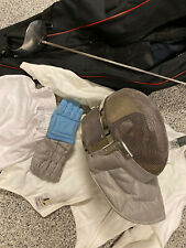 Saber Fencing Gear Set: Saber, Absolute 350N Helmet, Youth Jacket Pant Glove Bag
