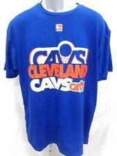 NBA Cleveland Cavaliers Throwback Hardwood Classic Blue Team Logo T-Shirt