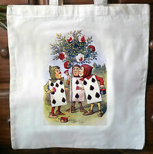 Alice In Wonderland eco friendly Cotton vintage Tote Bag Shopper Bag 01