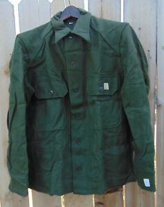 Genuine U.S. military 1953 Korean War O.D. wool combat shirt, M/L, NOS,free ship