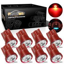 8pcs Non Polarity T10 LED Light Bulb 6-3020-SMD Red Light Lamp Instrument light