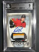 2018-19 The Cup Dillon Dube Rookie 4 Color Patch Auto /249  BGS 9 10 Auto