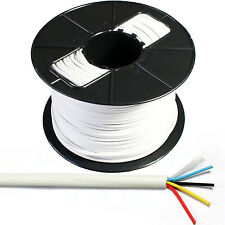 100m Reel 4-way/2 Par Alarma cable-tinned de cobre trenzado Cctv Panel contacto Pir