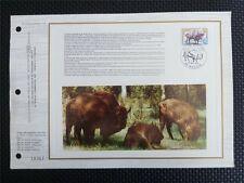 France Bison bisonti bisonte europeo wisente ETB language Esperanto!!! only 500 MADE! z761