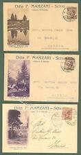 Veneto. SCHIO, Vicenza. Ditta MARZARI. Tre cartoline d'epoca commerciali..