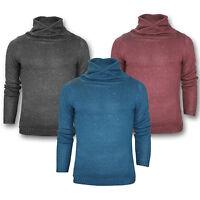 Mens Cow Neck Sweater Jumper Long Sleeve Pullover Stallion Sweatshirt New