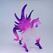 Pegasus Light Pink and Purple Figurine of Blown Glass Crystal