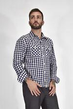 RALPH LAUREN Camicia A Quadri Blu In Cotone Taglia M Uomo Man