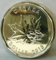 2018 CANADA UNC SPECIMEN 'MAPLE LEAF' ONE DOLLAR Coin