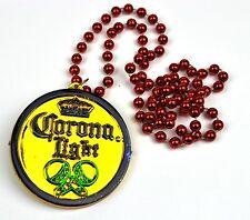 Corona Luce Birra USA Collana Festa Medaglia Collana perle Catena Partykette