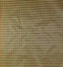 "COVINGTON MURAL OTTAMAN STRIPE CHECK ORANGE BLUE TAFFETA FABRIC BY THE YARD 56""W"