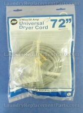 """Jmf Universal Dryer Cord 72"""" Long, 3 wire, 30 amp # 6330A"""