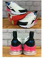 NIKE AIR 270 WHITE PINK BLACK TRAINERS VARIOUS SIZES CHILDRENS GIRLS T