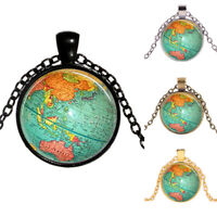 EE_ Women Necklace Globe Planet Earth World Map Pendant Ball Chain Jewelry Dream