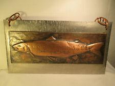 Fischer Angeln Wandbild aus Metall Hecht Karpfen