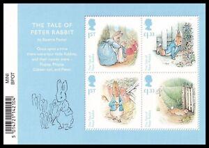 2016 GB Beatrix Potter Birth Anniversary MS3868 Barcode Miniature Sheet UM MNH