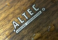 ALTEC LANSING LOGO Type-A water decal sticker label - New reproduction for repla