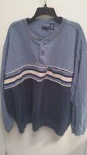 Knightsbridge Men's Long Sleeve Winter Shirt, size 4X,  Blue,  cotton, polyester