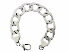 "Stainless steel Men's curb link chain bracelet 9"" length"