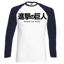 "Angriff auf Titan ""Survey Corps Logo"" Raglan Longsleeve Baseball T-Shirt"