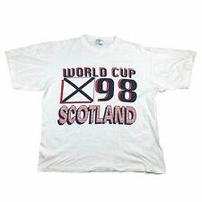 Scotland Football Team World Cup 98 1998 90s Tee T Shirt Mens White Scottish XL