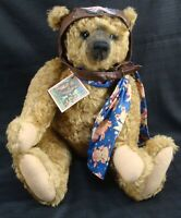 "RARE HEIDI STEINER ""MELVIN"" MOHAIR GROWLER OOAK TEDDY BEAR WHEN PIGS FLY COA TAG"