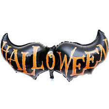 "Halloween Party bat long Cartoon letter halloween foil balloons 32"" inch black"