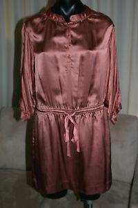 Rebecca Taylor Silk Dress, US2/AU6, Brown, New No Tags