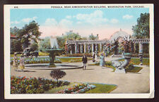 Chicago Illinois Il ca 1920 Pergola Washington Park People Vintage Postcard