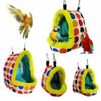 Papagei Vogel Haustier Hängend Käfig Zelt Werkzeug Höhle Nest Haus Warm Zubehör