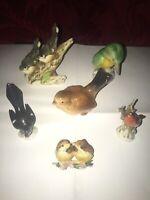 Lot de 6 Oiseaux Porcelaine 6 Birds Job Lot