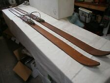 ANTIQUE WOODEN SNOW SKIS. MOUNT SHASTA. ANDERSON & THOMPSON. ORIGINAL MAYBE 1890