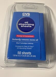 Oil Absorbing Sheets, Instantly Removes Oil 50 Sheets Oil Cvs/Pharmacy