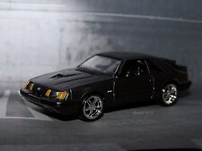 1984 84 FORD MUSTANG SVO TURBOCHARGED 1/64 SCALE DIECAST MODEL COLLECT DIORAMA