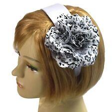 Handmade Silver White Silk Leopard Print Fascinator Headband Flower Hairband