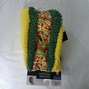 Taco Dog Pet Halloween Costume Celebrate Yellow Green Extra Small XS
