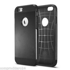 "Custodia Armor nera in Tpu e Policarbonato per iPhone 6 4,7"" - Slim Cover"