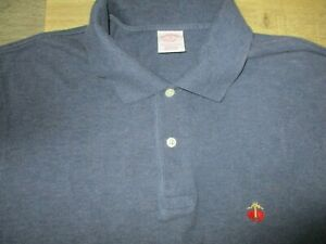 Brooks Brothers Performance Polo Sz M Men's Blue Collared Pull Over Polo