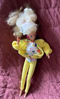 Vintage 1966 Mattel Barbie Doll Vinyl Blonde Hair Blue Eyes w/ Clothes VERY RARE