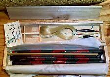 RARE   EDO WAZAO 12-PIECE 7-1/2' BAMBOO FISHING ROD  VINTAGE TANAGO BOXED SET
