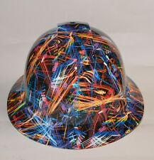 Wide Brim Hard Hat Hydro Dipped In Laser Light Show