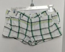 Charlotte Russe Plaid Shorts size 3 Greens and Grey / Gray