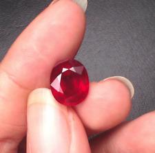 Pigeon Blood Red Ruby 4.22ct 9X11mm Oval Shape Cut AAAAA VVS Loose Gemstone