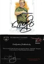 Manny Pacquiao Allen & Ginter Freddie Roach Signed Auto Card Team Pacman COA