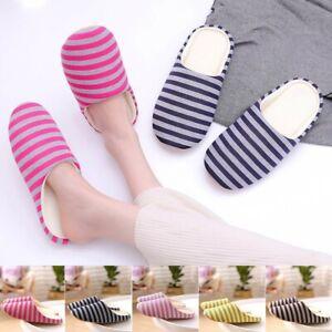 Women Men Slippers Slip On Plush Soft Winter Warm Home Indoor Slip On House Shoe