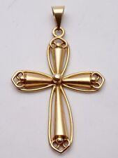 Très belle croix ancienne en or 18k pendentif XIXe